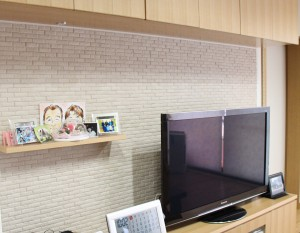テレビ台 ナラ突板 吊り戸棚